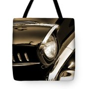 Classic '57 Chevy Bel Air In Sepia  Tote Bag