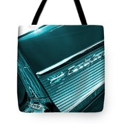 Classic '57 Teal And Chrome Tote Bag