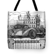 Classic Auto With Chateau Tote Bag