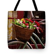 Classic Bicycle With Tulips Tote Bag