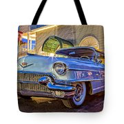 Classic Blue Caddy At Night Tote Bag