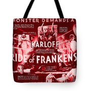 Classic Bride Of Frankenstein Poster Tote Bag