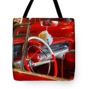 Classic Cadillac Beauty In Red Tote Bag