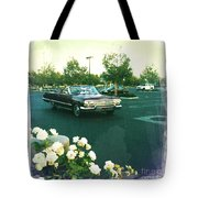 Classic Car Family Outing Tote Bag