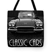 Classic Cars Front Cover Tote Bag
