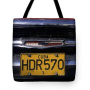 Classic Chevy In Cuba Tote Bag