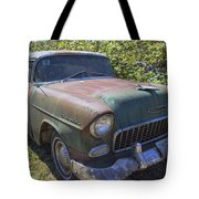 Classic Chevy With Rust Tote Bag