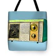 Classic Clock Radio Tote Bag