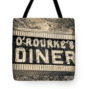 Classic Diner Neon Sign Middletown Connecticut Tote Bag