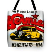 Classic Drive In Sign Tote Bag