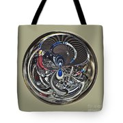 Classic Engine Orb Abstract Tote Bag