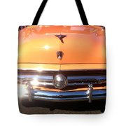 Classic Ford Car Hood Peach Tote Bag