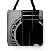 Classic Guitar In Black And White Tote Bag