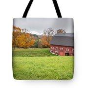 Classic New England Fall Farm Scene Tote Bag