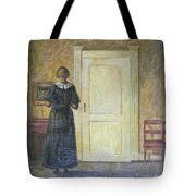 classic oil painting art-The back of the girl #16-2-1-04 Tote Bag