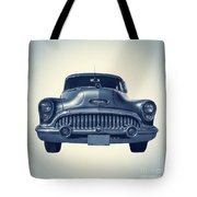 Classic Old Car On Vintage Background Tote Bag