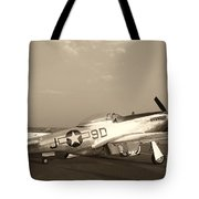 Classic P-51 Mustang Fighter Plane Tote Bag