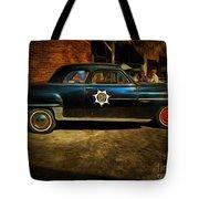 Classic Police Car Tote Bag