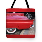 Classic Red And Black Tote Bag