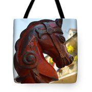 Classic Red Horsehead Post Tote Bag