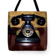 Classic Rotary Dial Telephone Tote Bag