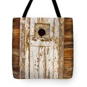 Classic Rustic Rural Worn Old Barn Door Tote Bag