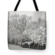 Classic Snow Tote Bag by Carol Whaley Addassi