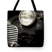Classic Vintage Car Black And White Tote Bag