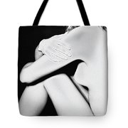 Classical Solarized Nude Female Body Tote Bag