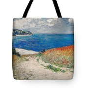 Claude Monet's Path In The Wheat Fields At Pourville-1882 Tote Bag