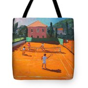 Clay Court Tennis Tote Bag