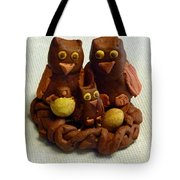 Clay Owl Family Tote Bag