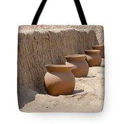 Clay Pots At Huaca Pucllana In Lima Peru Tote Bag
