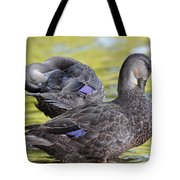 Ducks On Green Tote Bag