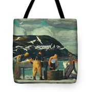 Cleaning Fish Tote Bag