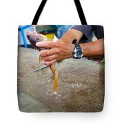Cleaning Snappers Tote Bag