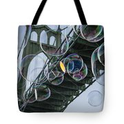 Cleaning The Bridge With Bubbles Tote Bag