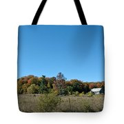 Clear Autumn Country Sky Tote Bag