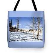 Clear Blue Silence Tote Bag
