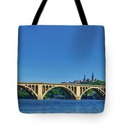 Clear Blue Skies At Key Bridge Tote Bag