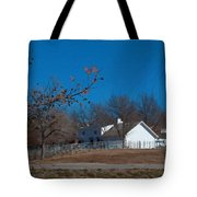 Clear Blue Sky - Oil On Canvas Tote Bag