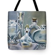 Clear Glass Bottles Tote Bag