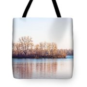 Clear Morning On The River Tote Bag