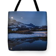 Clear Water Rainier Reflection Tote Bag
