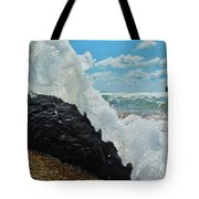 Clear Water Splash Buxton Jetty 1 6/06 Tote Bag