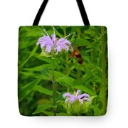 Clear-winged Hummingbird Moth Tote Bag
