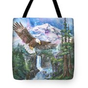 Cleared For Landing Mount Baker Tote Bag