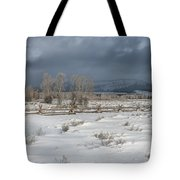 Clearing Storm In The Tetons Tote Bag