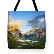 Clearing Storm - Yosemite National Park From Tunnel View. Tote Bag