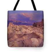 Clearing Sunrise Storm Zabriske Point Death Valley National Park California Tote Bag
